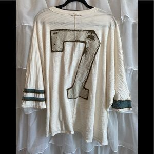 Free People - We The Free button up shirt/jersey